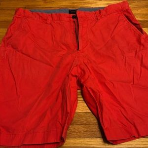 JCrew Club Shorts in Red/Pink